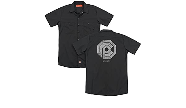 ROBOCOP DISTRESSED OCP LOGO Licensed Adult Dickies Work Shirt All Sizes