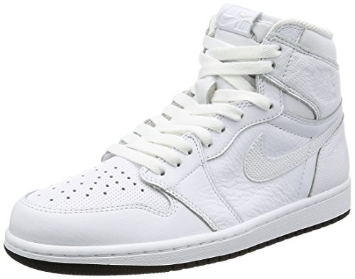 Nike Air Jordan 1 Retro High OG, Scarpe da Ginnastica Uomo White/Black/White