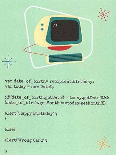 Javascript Computer Birthday Card (4.25