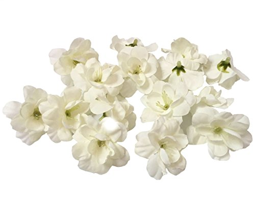 Cherry Blossom Flower Heads, 100pcs Colorfulife Artificial Silk Flower Head Petals Bridal Shower Favors for Wedding Party Supplies Table Floor Decoration Centerpieces Home Decorative (White) from Colorfulife