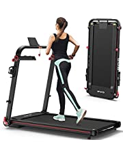 """OMA 1012EB Folding Treadmill for Space Saver Apt Premium Portable Treadmill with 300lb Weight Capacity 48""""x17.7"""" Extended Belt Fast Control Handlebar 36 Preset Programs 2.25HP Running Jogging for Home"""