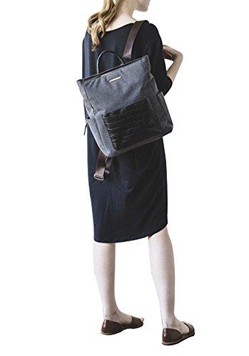 anuanu cambiador de bebé (multiusos bolsa de pañales Ash grey Talla:RANI gris