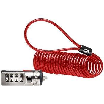 Red Kensington K64576US ComboSaver Portable Notebook Computer Lock