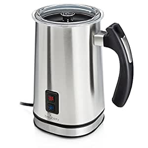 Brewberry Electric Milk Frother & Heater for Extra Foamy Cappuccino, Latte & More, Milk Frother Pitcher, Cordless Detachable Base for Easy Serving, Stainless Steel