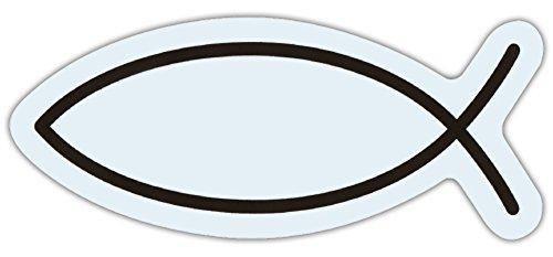 (Ichthys Car/Refrigerator Magnet - Jesus Christ, Son of God, Savior (Iesous Christos Theou Yios Soter) - Religious Fish Symbol Magnet)