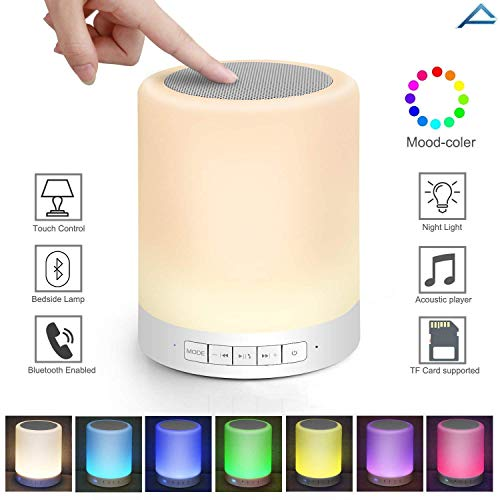 Rampotox Wireless Portable Bluetooth Speaker with Smart Touch LED Mood Lamp, Pen Drive, SD Card, AUX and Mic. for Android/iOS/Windows & All Bluetooth Devices.