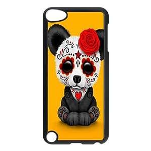 Custom Tattoo Sugar Skull Plastic Case for iPod touch5, DIY Tattoo Sugar Skull Touch 5 Shell Case, Customized Tattoo Sugar Skull iPod Cover Case