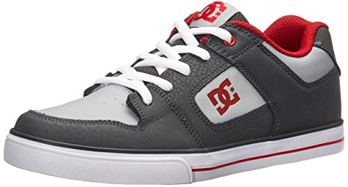 DC Pure Elastic Skate Shoe Grey 1 M US Little Kid ()