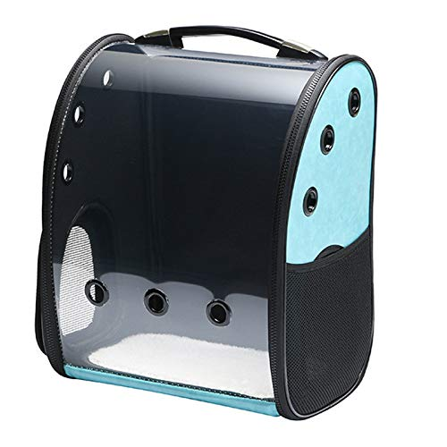 bluee TOOGOO Pet Carrier Backpack Transparent Bag Cat Dog Outdoor Hiking Travel Bag Space Astronaut Bag Capsule Pet Products bluee