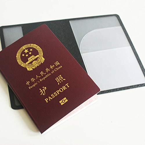 In Passaporto Viaggio Carta Protactive Del Copertura Caso Pink Pu Da Con Multiuso Pelle Credito Bank Di Supporto Mailfoulen Raccoglitore 6dOn6w