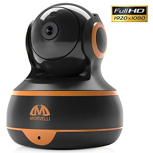 [New 2019] FullHD 1080p WiFi Home Security Camera Pan/Tilt/Zoom - Best Rated Smart App, Work with Alexa - Wireless IP Indoor Surveillance System - Night Vision, Remote Baby Monitor iOS (Black) ()