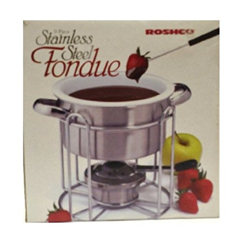 Roshco 9pc. Stainless Steel Fondue Set