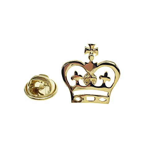 (Cuff-Arts Lapel Pin Badges Crown Pin Brooch Gold Color Buttons Pins with a Gift Box P10070)