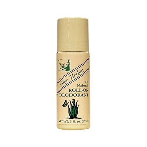Alvera All Natural Roll-On Deodorant, Aloe Herbal, 3 Fluid ()