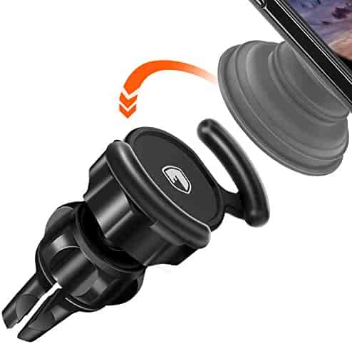 Pop Clip Car Mount Compatible Pop Users - Fitfort 360° Rotation Air Vent Pop Out Stand Car Mount with Adjustable Switch Lock for GPS Navigation Compatible with All Smartphones