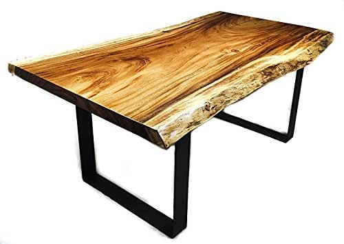 Amazon Com Live Edge Monkey Pod Dining Table And Bench