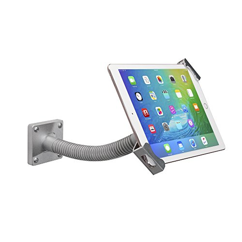 CTA Digital Security Gooseneck Tabletop & Wall Mount for 7-13 Inch Tablets/12.9-inch iPad Pro (2018)/ 11-inch iPad Pro (2018) /iPad Pro 9.7, 10.5, 12.9/iPad (2017)/iPad Mini/Surface Pro 4
