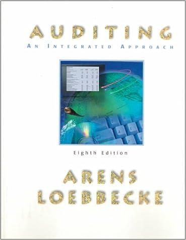 arens loebbecke auditing an integrated approach