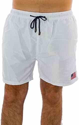 07ee3bdd41 Exist Men's Patriotic USA American Flag Stripes Stars Quick Dry Beach Board  Shorts Swim Trunks