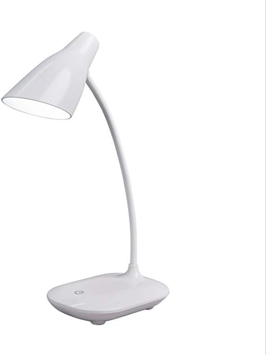 WANGIRL Lámpara de Mesa Táctil USB Lámpara de Mesa de Lectura LED ...