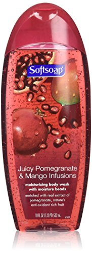 Softsoap Body Wash, Juicy Pomegranate and Mango Infusions 18 fl oz(pack of 2)