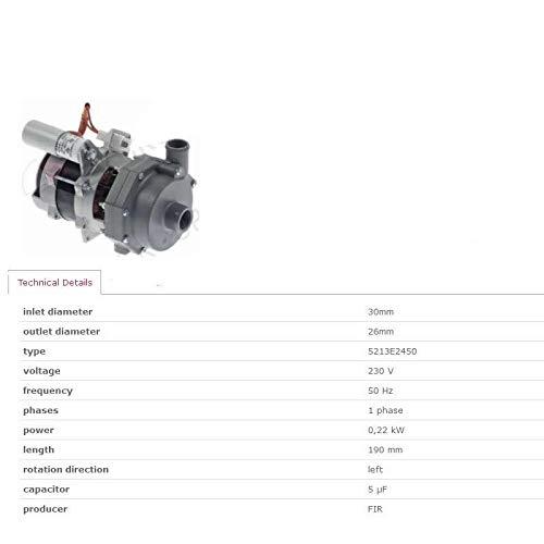 ELECTROLUX 0L1640 RINSE WATER BOOSTER PUMP FOR DISHWASHERS ZANUSSI ALPENINOX FIR