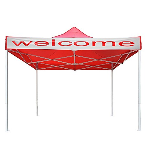 Yescom 10x10 FT Easy Pop Up Canopy Party Wedding Folding Commercial Instant Shelter Sun Shade with Carry Bag Red