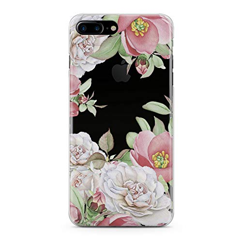 Lex Altern TPU Case for iPhone Apple Xs Max Xr 10 X 8+ 7 6s 6 SE 5s 5 Smooth Lightweight Flowers Floral Slim fit Feminine Soft Cover Roses Petals Print Pastel Design Clear Gift Flexible Roses Pink (Leaf Primrose Five Light)