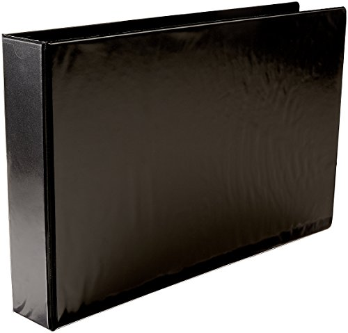 Ruby Paulina A3 2'' Angle-D Ring Black Vinyl View Binder (717910)
