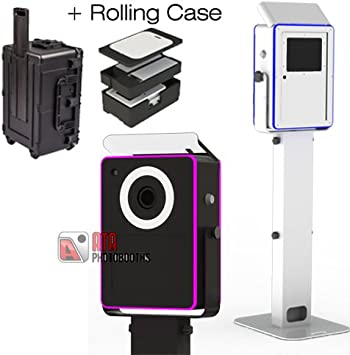 Lumia Photobooth Attractive Aluminum Enclosure Quick Flip Bounce Card Column Baseplate /& Strobe Flash Medium DIY Shell Printer Shelf /& Travel CASE Without, Black