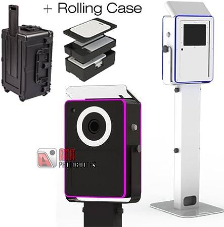 Black Lumia Photo Booth DIY Shell w//Ringlight Plus Rolling Case