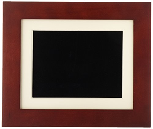 GiiNii GH-811P 8-Inch Digital Picture Frames (Brown/Black with White Mat)