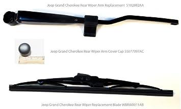 99 - 04 Jeep Grand Cherokee trasera limpiaparabrisas actualización limpiaparabrisas limpiaparabrisas hoja y tapones para: Amazon.es: Coche y moto