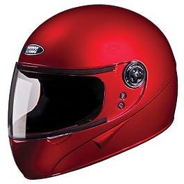 Studds Chrome SUPER Full Face Helmet (Cherry Red, XL)