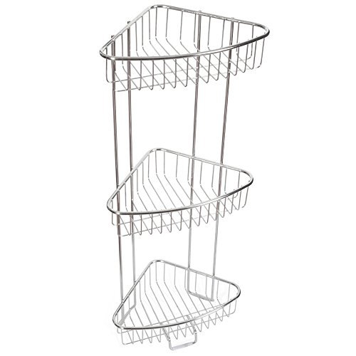 Cheap  ToiletTree Products Shower Floor Caddy, Stainless Steel, Rust-Free Guarantee, 3 Tiers