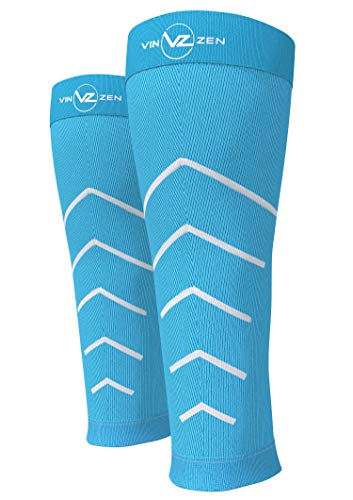 Calf Compression Sleeve Toeless Compression Socks Women & Men Best Footless Leg Support Sleeves for Calves – Improve Circulation for Shin Splint, Calf Pain Recovery, Running, Cycling, Travel, 1 Pair