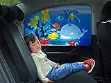FancyAuto Car Sunshade Side Window Magnet Automatic Scaling Cartoon Shade Cloth Car Curtain Summer Sun Protection Windscreen Anti-UV Block UV Rays Sunshade For Kid and Pets(Back Seat Side*1PC)
