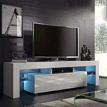 Mobili E Supporti Tv.138x45x14cm Mobile Tv Con Led Mobile Porta Tv Moderno Con Led E