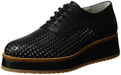 Gabriele Strehle Shoe Meta, Zapatos de Cordones Derby para Mujer Schwarz (Black)