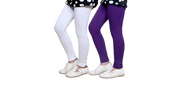 Indistar Big Girls Super Soft Cotton Leggings Set of -9