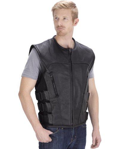 Zipper Leather Vest - 3