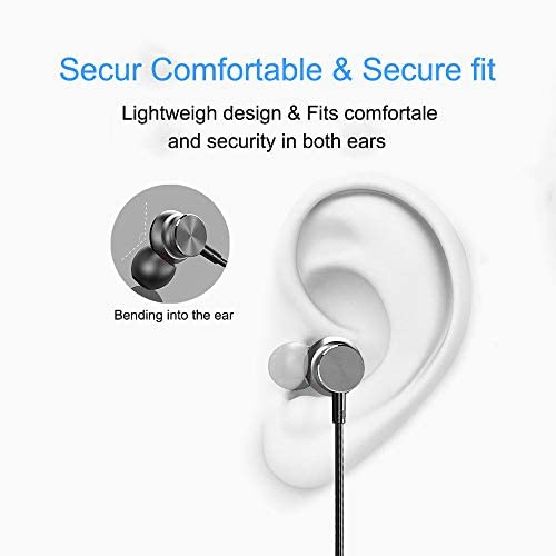 Wireless Earbuds Earphones Bluetooth Headphones, Sport Sweatproof in-Ear Earbuds Magnetic Headset Microphone HiFi Stereo Noise Cancelling Running HD Bass Earpiece iOS Android Gym Workout