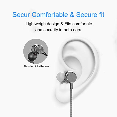 Wireless Earbuds Earphones Bluetooth Headphones, Sport Sweatproof in-Ear Earbuds Magnetic Headset Microphone HiFi Stereo Noise Cancelling Running HD Bass Earpiece iOS Android