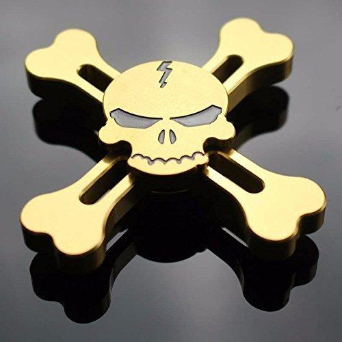 Gold-Skull Design Cool Fashion Skull Design Fidget Hand Spinner