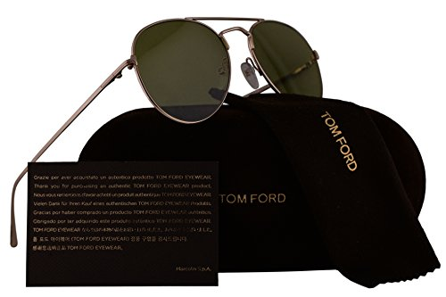 (Tom Ford FT0551 Ace-02 Sunglasses Shiny Rose Gold w/Green Lens 28N TF551 FT551/S TF551/S)