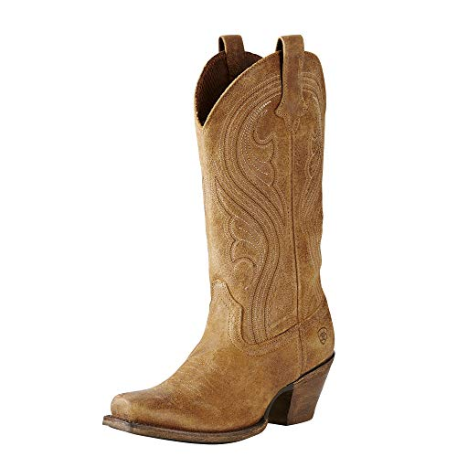 Ariat Women's Lively Western Cowboy Boot, Old West Brown, 11 B US