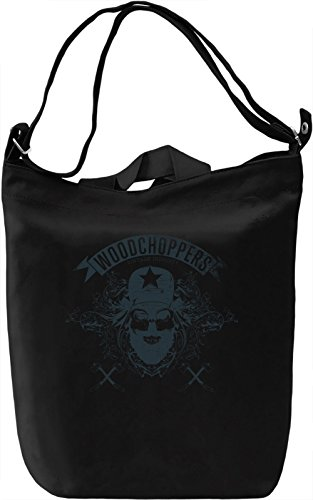 Woodchopper skull Borsa Giornaliera Canvas Canvas Day Bag| 100% Premium Cotton Canvas| DTG Printing|