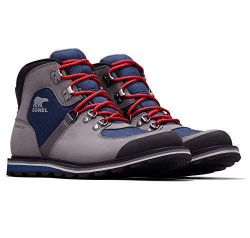 Sorel - Men's Madson Sport Hiker Waterproof Leather Boots, Carbon, 9.5 M US