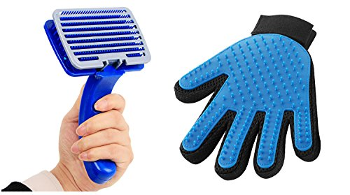 Glo Mittens - Topixon PET Pet Grooming Glove & Pet Grooming Brush for Dog cat Small Animal pet Comb Best Fur Removal and deShedding Tools for Dogs, Cats, Rabbits, Horses, Bunny Rabbits