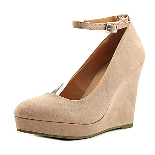 Material Girl Womens Vivie Fabric Closed Toe Ankle Strap Platform Pumps Blush OlcD3